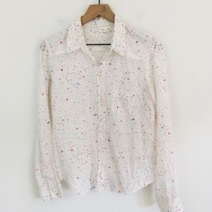 Meadow Rue Anthropologie Dot Print Button Up